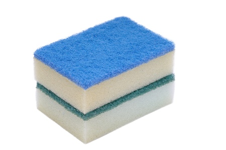 Kitchen sponge isolated on a white background Stock Photo - 13052321