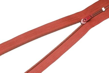 Unlocked zipper isolated on white background Stock Photo - 13052318