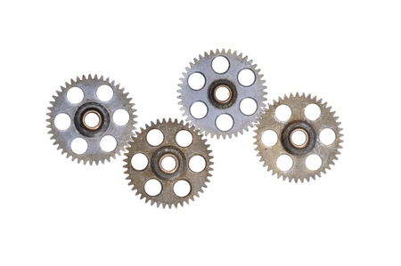 cog wheels - gears isolated on white background Stock Photo - 15842676