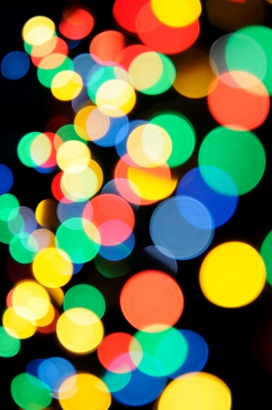 Abstract background - bright defocused lights in night