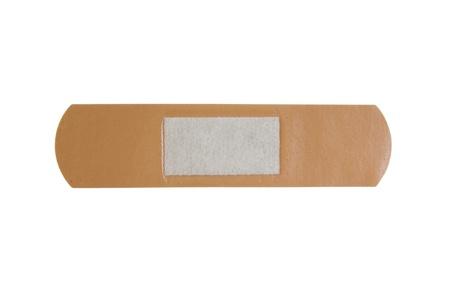 band aid: Adhesive plaster isolated on white background