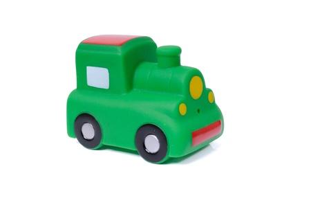 Toy locomotive isolated on white