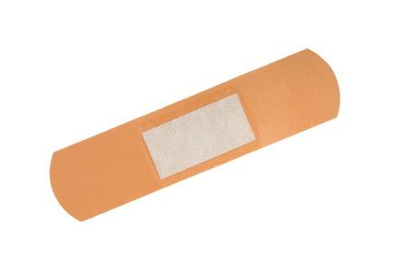 Adhesive bandage isolated on a white