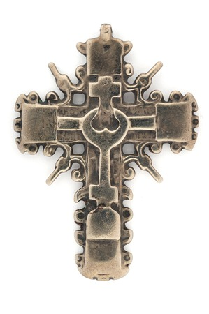 18th: Christian Cross isolated on the white background, 18th Century