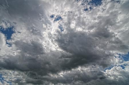 Sfondo di nuvole scure prima di un temporale Archivio Fotografico