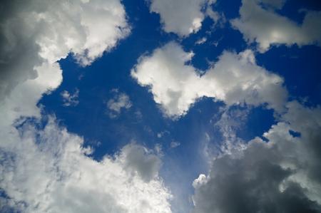 Cumulus clouds fnd blue sky