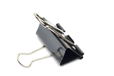 Black Paper clamp Stock Photo