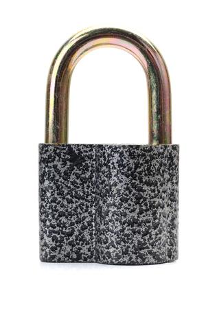 padlock isolated on white Stock Photo