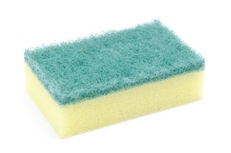 Sponge dish isolated on a white background