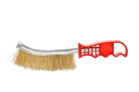 Brush for cleaning metal Stock Photo