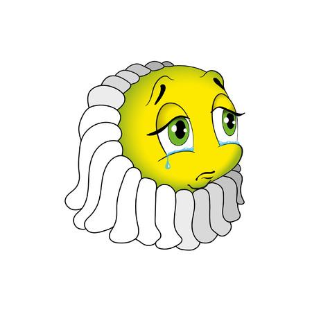 Face icons - Chamomile Emotion. Illustration