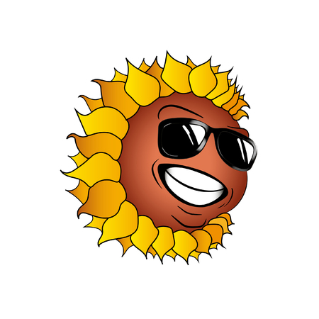 Face icons - Sunflower Emotion. Иллюстрация