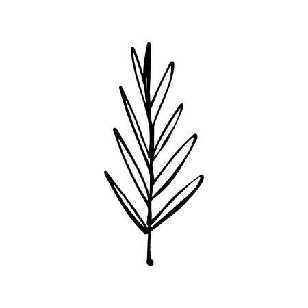 Stylized leaf one line art. Contour simple drawing. Minimalism modern art decor