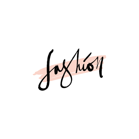 Fashion lettering text. Fashion postcard or banner, good for t-shirt print. Letters banner