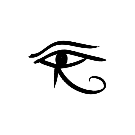 Ancient egyptian symbol of the eyes. Left eye of Horus. Pharaohs amulet. Good for apps and web icon