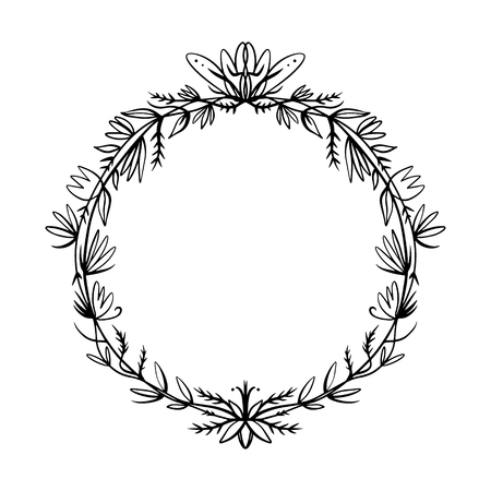 Floral line art detailed baroque frame decorative detailed rich luxury ornament, vintage graphic line art