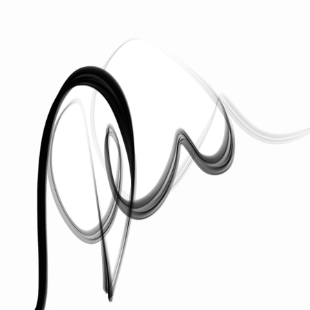 Vector smoke scribble sketch texture lines. Waves, vibration. Ink and water on white background Illustration