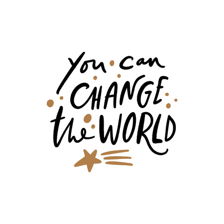 You can change the world text. Tempting cute typography lettering postcard or poster. Vector illustration
