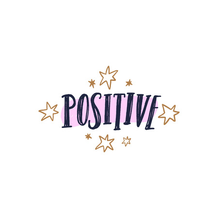 Positive text. Tempting cute typography lettering postcard or poster. Vector illustration