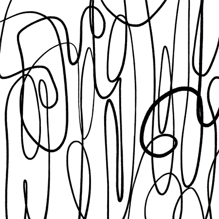 Vector illustration. Mid century modern abstract line art. Nordic interior design. Poster and print, scandinavian style Vector Illustration