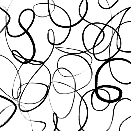 Hand drawn scribble sketch lines object on white background. Vector artistic print wallpaper
