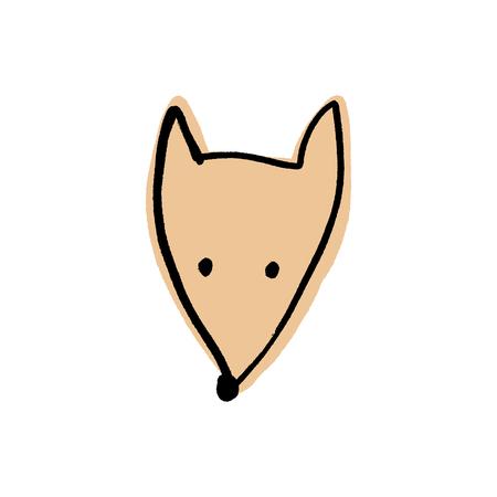 fox face doodle scandinavian nursery clip art Banque d'images - 122574030