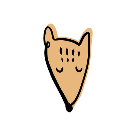 fox face doodle scandinavian nursery clip art Banque d'images - 122574029