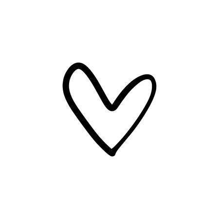 Favorite like isolated minimal heart icon. Heart line vector icon for websites and mobile stories. Good for logos and more