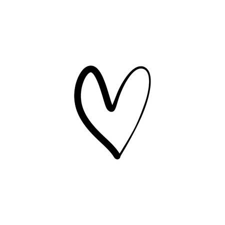 Favori comme icône de coeur minimal isolé. Icône de vecteur de ligne de coeur pour les sites Web et les histoires mobiles. Bon pour les logos et plus
