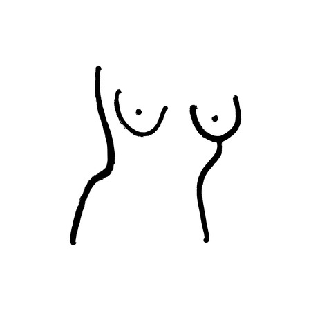 Nude art line drawing one line nude sketch. Figure interior design wall art. Vector EPS Иллюстрация