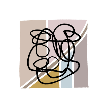 Abstraction. Modern contemporary art abstract shapes. Vector Clipart Vector Illustration