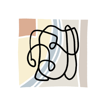 Abstraction. Modern contemporary art abstract shapes. Vector Clipart