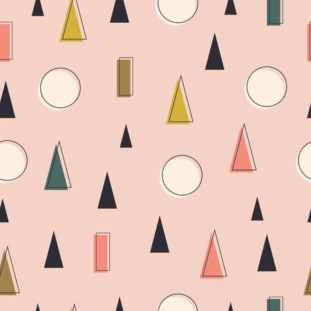 Abstract scandinavian geometric seamless pattern with triangles. Modern stylish abstract background for posters, covers, postcard design.