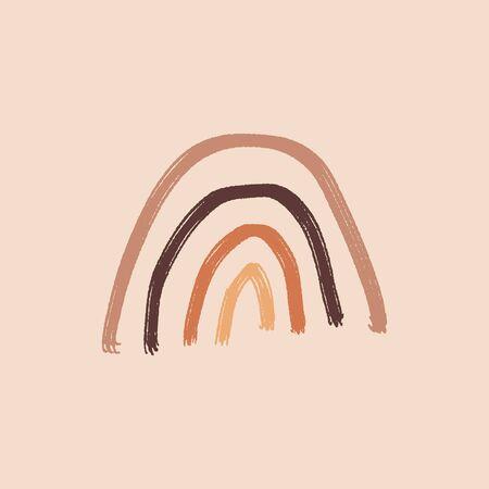 Artistic Modern Terracotta Pastel Palette Simple Element Primitive Childish Ornament Rainbow
