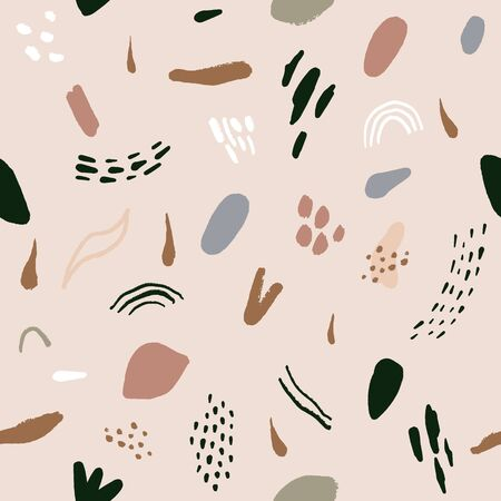 Pastel hand drawn trendy contemporary abstract cutout shapes seamless pattern. Vector modern collage modern nursery wrapping paper decor. Vector illustration. Clipart image. Stock fotó - 138436918