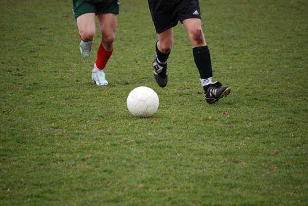parte delle gambe calcio o calcio-tema Archivio Fotografico