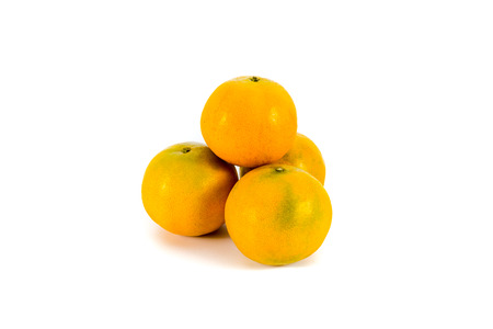 and is favorable: Four oranges for chinese new year festival Stock Photo