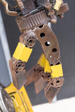 Rust metal assembled for robot hand