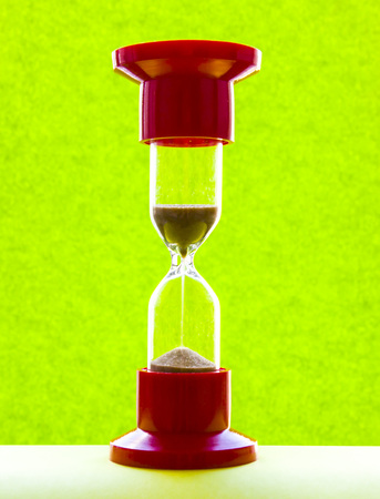 Red medical hourglass-image