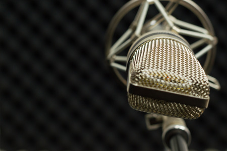 preamp: microphone vocal booth Stock Photo