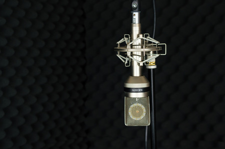 vocal: microphone vocal booth
