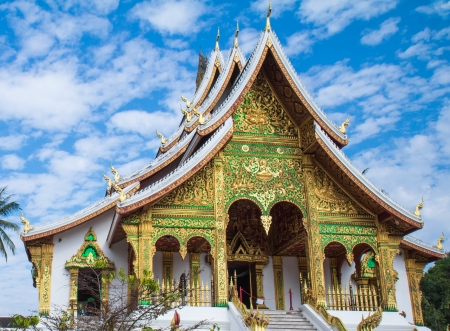 Temples of Luang prabang is favorite from to traveler around the world photo