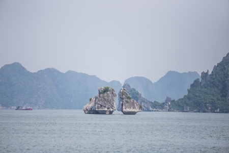Ha Long Bay Gulf in Vietnam photo