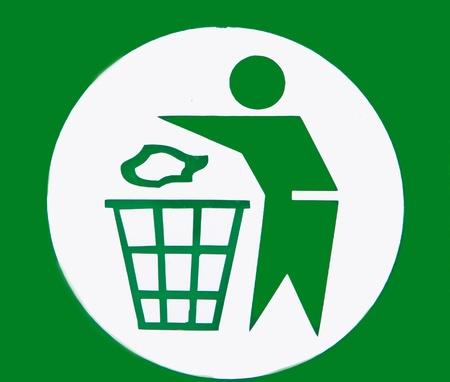 Garbage sign photo