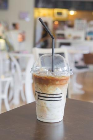 Ice coffee at Coffe shop photo