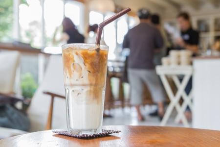 Café de hielo en el Coffe shop Foto de archivo
