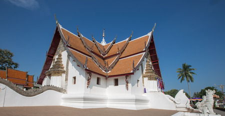 ordination: Buddhist temple of Wat Phumin in Nan, Thailand
