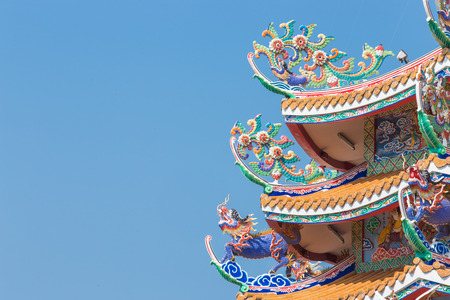 chinese temple: Chinese temple  architecture Stock Photo