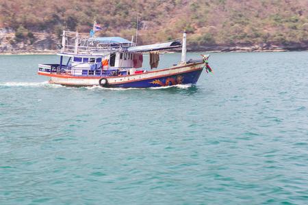 Fisherman boat on sea