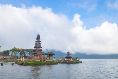 gr: Pura Ulun Danu Hindu temple in Bali Indonesia Stock Photo